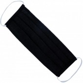 Q-A2.2 Fashion Mask - 2 Layers - Cotton - Machine Washable - Individually Packed - Black