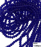 E-F2.1  Faceted Glass Beads 4mm About 1380pcs Blue