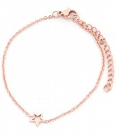 A-E6.3  B1842-005 Stainless Steel Bracelet on Giftcard with Star Rose Gold