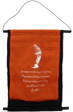 S-H2.1 Cotton Banner Budha Quote XL 74x43cm