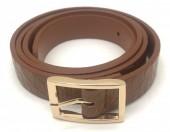 S-H6.1  BELT418-001C PU Croco Belt Brown L