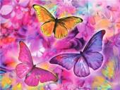 T-J4.1 GD75010 Diamond Painting Set Butterflies 40x30cm