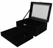 T-K6.1 PK424-072 Luxury Jewelry Box 20x15x8.5cm Black