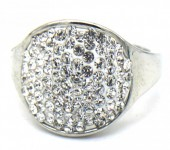 B-C5.4 R532-004S Adjustable Ring with Crystals Silver