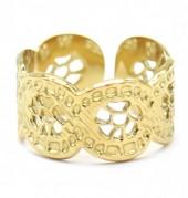 B-F5.3 R2033-002G S. Steel Ring Adjustable Gold
