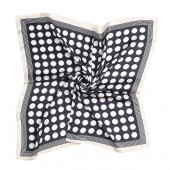 S-C6.1  SCARF2018-004 Scarf Silky Feel 70x70cm Dots