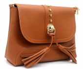 Z-B3.3 BAG546-025B PU Bag Tassels Brown