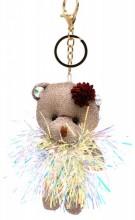 S-F7.2 KY2035-003A Keychain Glitter Bear 12cm Brown