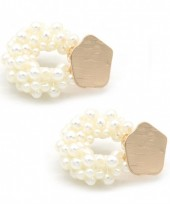 A-E16.2  E318-006 Earrings with Pearls Gold