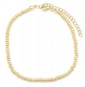 B-E16.2 B2061-001F Bracelet with Glass Beads Gold