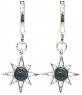 G-E2.2 E532-003S Earrings Sun Black-Silver