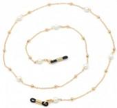 A-D22.3 GL381 Sunglass Chain Pearls Gold