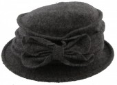 Z-A3.3  Woolen Hat with Bow Grey
