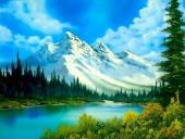 Q-L2.1 XL4009 Diamond Painting Set Mountains 40x30cm