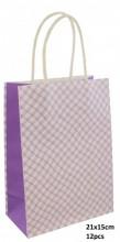 Q-E7.1 PK525-010B Paper Giftbag 21x15cm Purple 12pcs