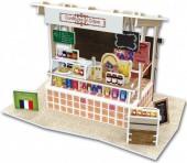 G-C26.2 W3177H 3D Puzzle Crepe Stall France - 37pcs