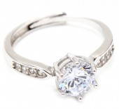 E-C6.5 SR103-096 Ring 925 Sterling Silver with Zirconia's