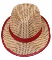 HAT210-005 Fedora Hat Brown-Red