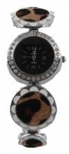 B-F5.6 Metal Watch with Animal Print Round