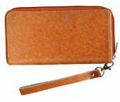 S-A2.2  Leather Wallet with Cowhide Brown with Mixed Color Cowhide 21.5x11cm