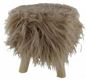 Y-D4.5 ST002-001 Stool with Fake Fur 31x34cm Brown