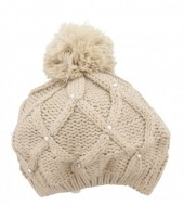 T-K5.1 Beanie with Crystals Light Brown
