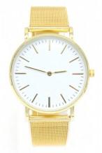 B-F18.1  W203-018 Metal Quartz Watch 38mm Gold