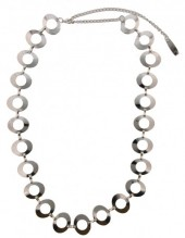 S-I4.4  Metal Chain Belt Ovals with open Circles