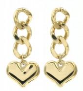 C-D19.3 E013-001G S. Steel Earrings 3cm Gold