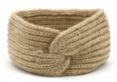 T-I7.2  H401-006D Knitted Headband Extra Soft Brown