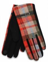 S-A3.1  GLOVE403-001C Checkered Gloves with PU Strap Orange