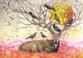 Z-C3.3 RA3109 Paint By Number Set Tree-Deer 40x30cm