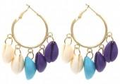 C-D23.1 E1631-005A Earrings Shells 3x5cm Gold
