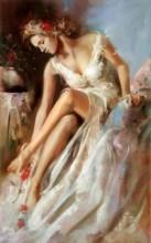 Q-P7.2 Q167 Diamond Painting Set Girl in Dress 20x30cm