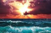 R-L3.1 Diamond Painting Set Waves - Sunset 50x40cm