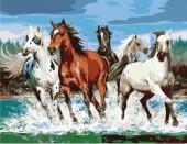 Y-C5.3 MS7593 Paint By Number Set Horses 50x40cm