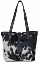 T-H5.2 BAG1157 Leather Bag with Cowhide Mixed Colors 40x28x11cm