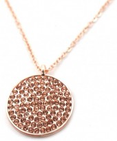 D-E7.4 N246-019R Necklace with Crystals Rose Gold