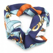 S-H1.1  H305-012 Scrunchie Print Blue