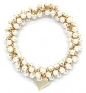 D-C14.1  H2039-001E Hair Elastic with Glass Pearls
