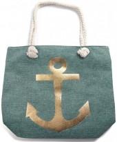 Y-D4.5  BAG530-001B Beach Bag Anchor Green