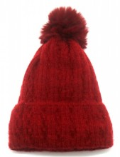 T-N2.2 HAT005-014F Beanie with Pompon Red