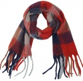 Y-F2.2  SCARF405-060K Soft Checkered Scarf Multi
