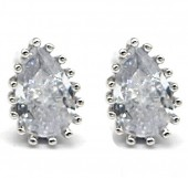 E-A16.3 SE104-143 925S Silver Earrings with Zirconia 8mm