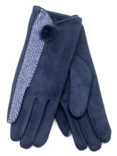 R-K3.1 GLOVE403-092C Gloves with Pompon Blue