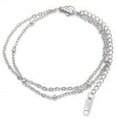 B-E8.1 B019-007S Layered S. Steel Bracelet