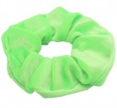 S-G7.3 H305-009A11 Velvet Scrunchie Bright Green