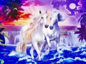 R-P6.2  S284 Diamond Painting Set Horses 50x40cm