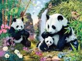 T-D3.2 S296 Diamond Painting Set Pandas 50x40cm