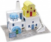 F-F12.1 W3168H 3D Puzzle Traditional Residence  Greece - 21pcs
